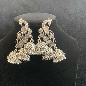 Boho peacock earrings